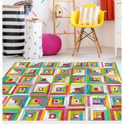 Vinyl Rug Patchwork Anna Llenas | 100 cm x 133 cm