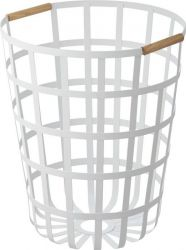 Laundry Basket Round Tosca | White