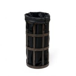 Laundry Basket Cage | Dark Oak - Black