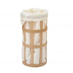 Laundry Basket Cage | Natural Oak - Soft White