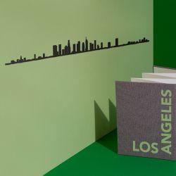 Wanddekoration Los Angeles Skyline Groß | Schwarz