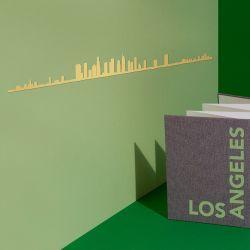Wanddekoration Los Angeles Skyline Klein | Gold