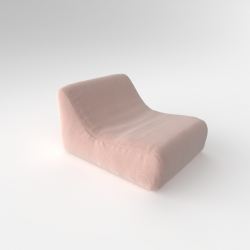 Inflatable Lazy Chair with Free Rechargeable Pump | Blush