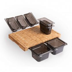 Cutting Board Lockdown Special V2 | Bamboo | Set of 7 Containers