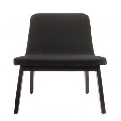 Lean Veneer Lounge Chair | Black Oak/Black