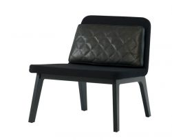 Lean Lounge Chair | Black Lacquered Oak/Black