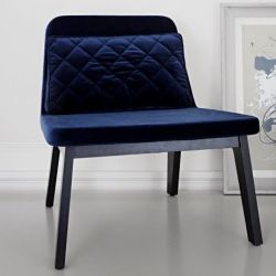 Lean Lounge Chair | Black Oak/Nightblue