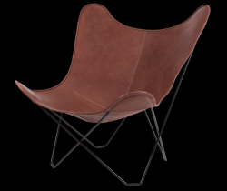 Butterfly Chair | Red Brown