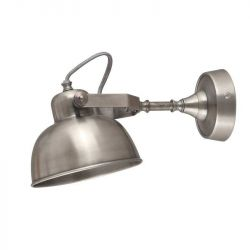 Wall Lamp Giens | Antique Silver Metal-Medium