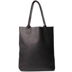 Leder-Shopper-Tasche Jan | Schwarz