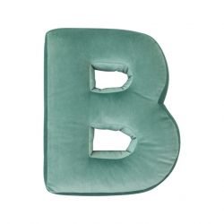 Cushion Letter Velvet Mint | B