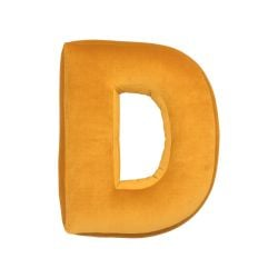 Cushion Letter Velvet Yellow | D