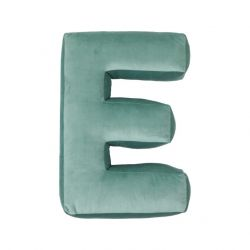 Cushion Letter Velvet Mint | E