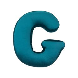 Cushion Letter Velvet Emerald | G