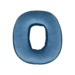 Cushion Letter Velvet Blue | O