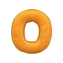 Cushion Letter Velvet Yellow | O