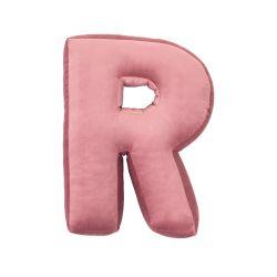 Kussen Letter Velvet Roze | R