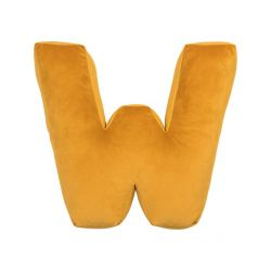 Cushion Letter Velvet Yellow | W