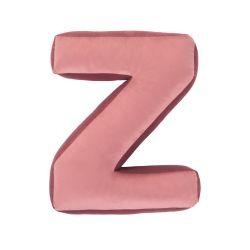Buchstabenkissen Samt Pink | Z