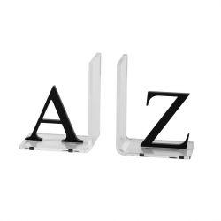 Paar Buchstützen Buchstaben | Transparent