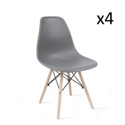 Chaises James Set de 4 | Gris