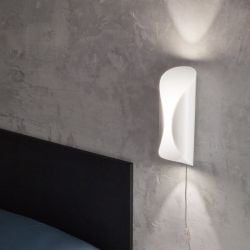 Wall Lamp Concerto 1 L with Cable | White Metal