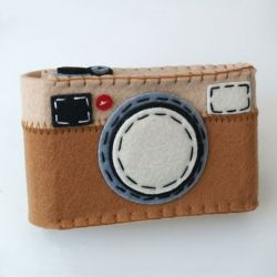 Camera Case Holder Light Brown