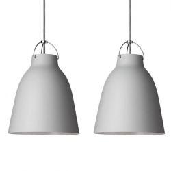 Hanglamp Caravaggio Matt P1 Set van 2 | Lichtgrijs