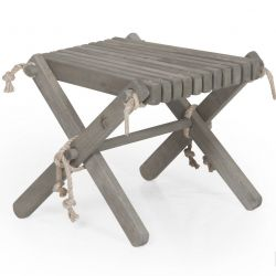 Outdoor Side Table Lilli Pine Wood | Grey