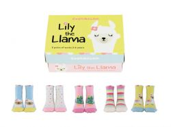 Kindersocken Lilie das Lama 5 Paar