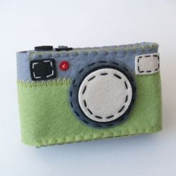 Camera Case Holder Green