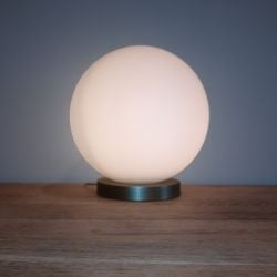 Frosted Glass Bowl Lamp