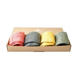 Frauensocken 4er-Set | Einfarbig