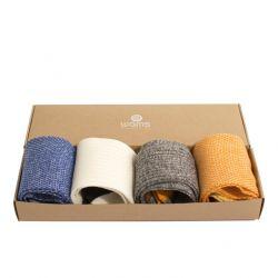 Socken Linen Mix Geschenkbox