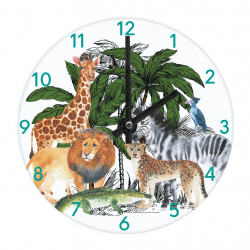 Kids Wall & Table Clock Safari