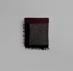 Lofoten Blanket | Burgundy-Mint