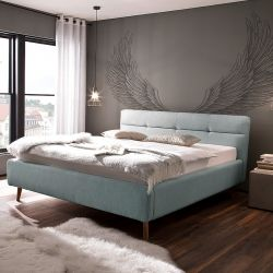 Upholstered Bed with Storage Room Lotte | Light Blue