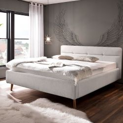 Upholstered Bed with Storage Room Lotte | Light Grey