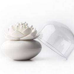 Porte-coton Lotus | Blanc