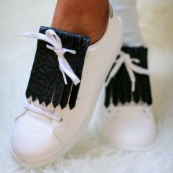 Shoe Fringes | Badass Black