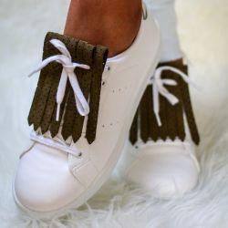 Shoe Fringes | Lou Khaki