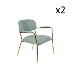 Lounge Chair + Armrest Jolien | Light Green