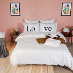 2er-Set Kissenbezüge & Bettbezug | Love