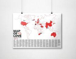 Weltkarte | Karte der Liebe