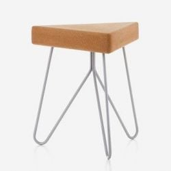 Três Stool and Side Table | Grey Legs