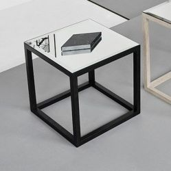 Cube Mirror Table | Black