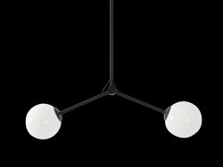 Pendant Lamp Catkin Twins | Black