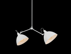 Lampe Suspension Coben Two Head | Blanc