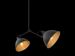 Lampe Suspension Coben Two Head | Noir