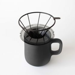 Coffee Dripper and Mug Set | Black